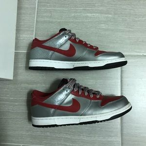 Nike Dunk Low Varsity Red/Silver men's size 9.5